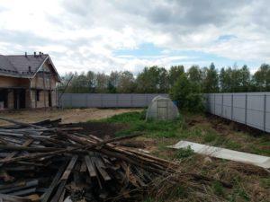 Договор №11950/19 - Забор из профнастила на винтовых сваях