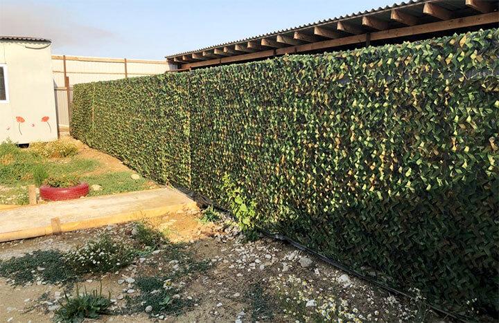 Маскировочный забор для дачи