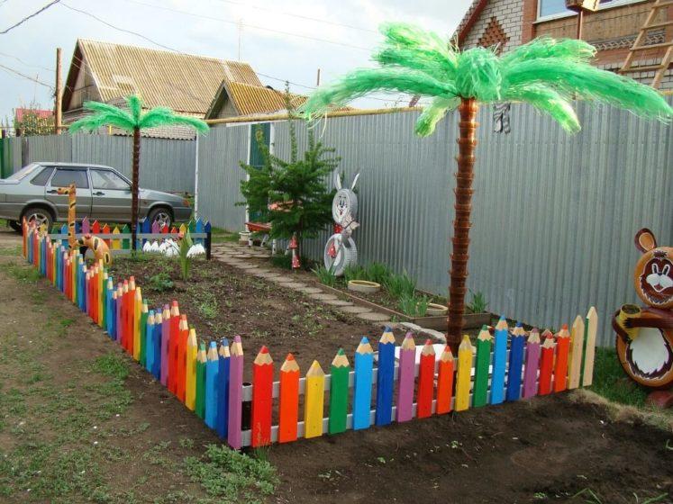 Забор для детской площадки на даче