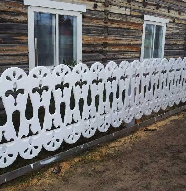 Ажурный деревянный забор