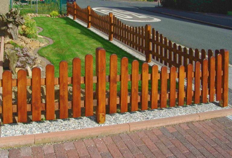 Декоративный деревянный забор