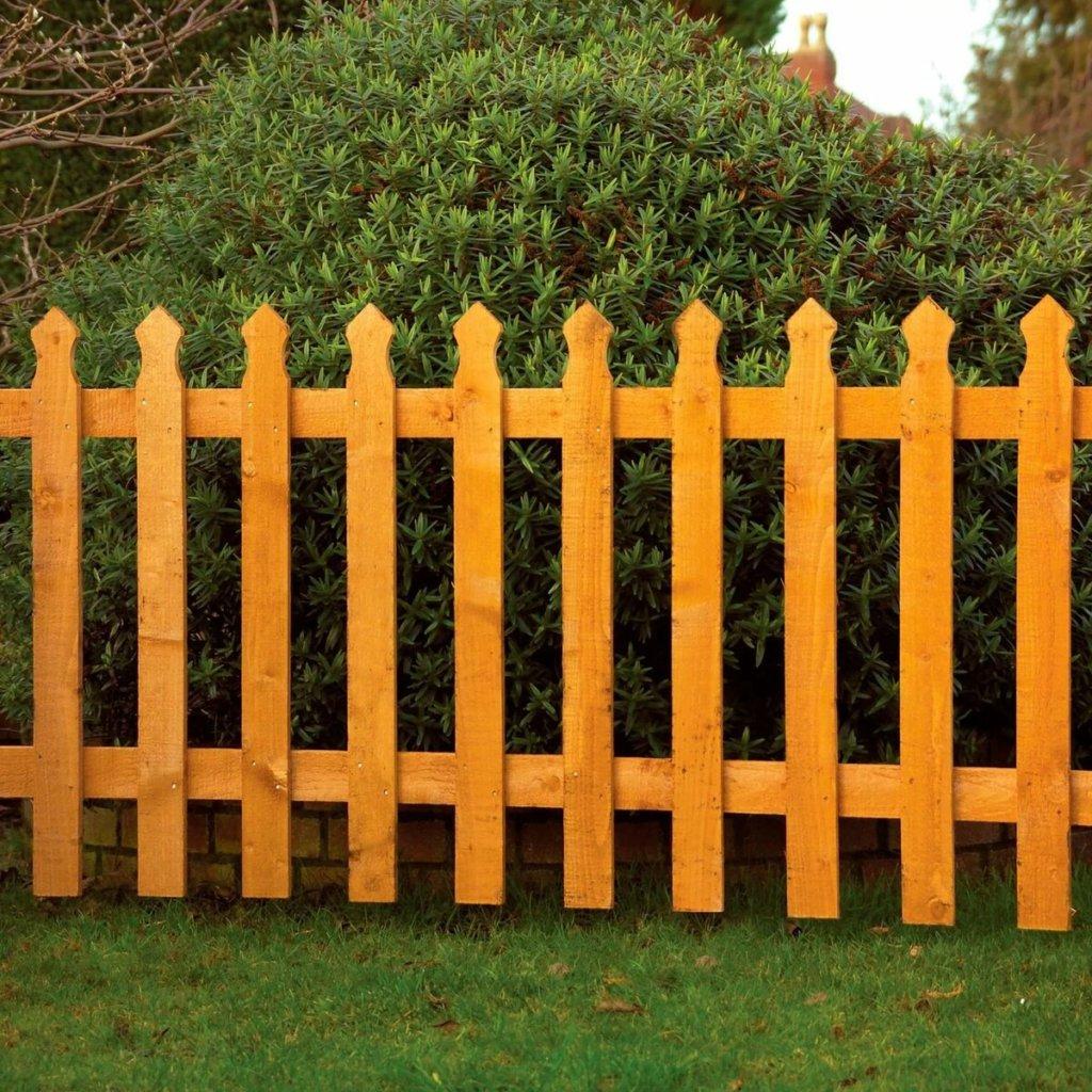 Деревянный забор для палисадника