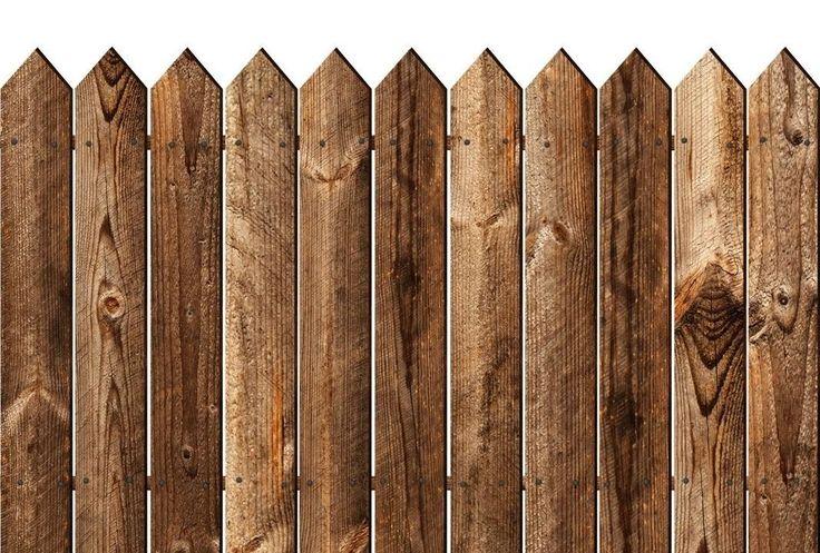 Деревянный забор вектор