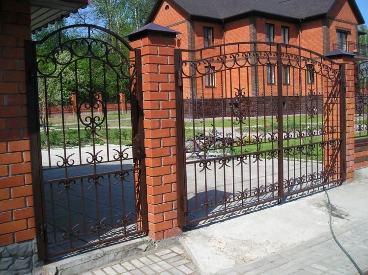 Ворота заборные фото