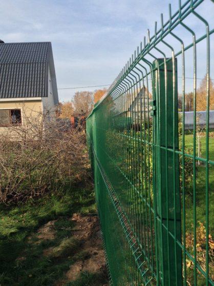 Модульный секционный забор из сварной сетки