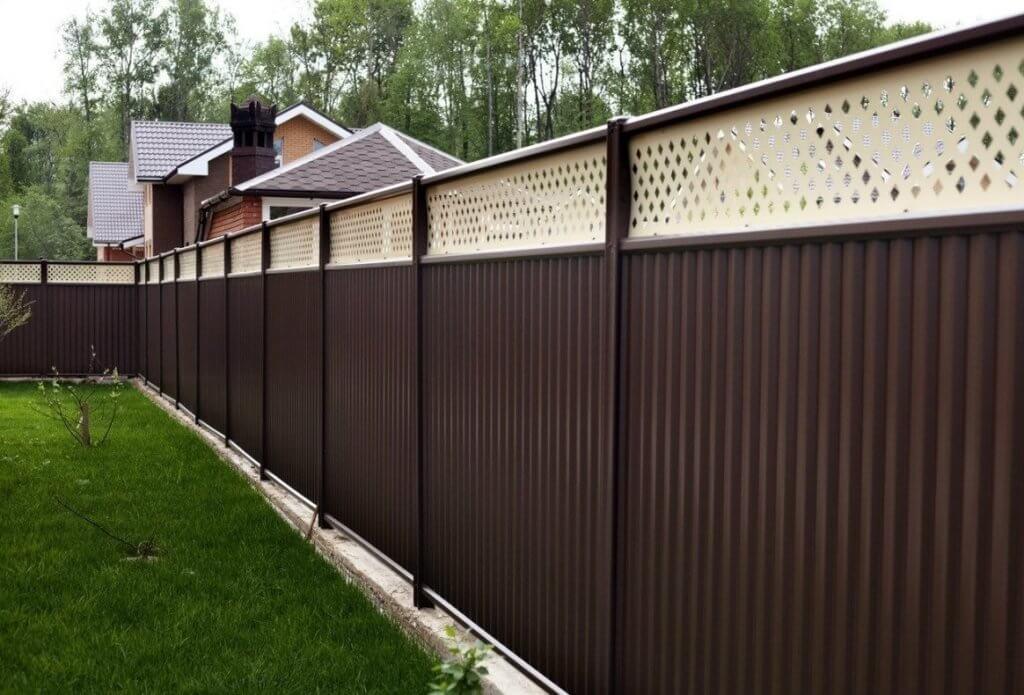 Модульный забор из профнастила