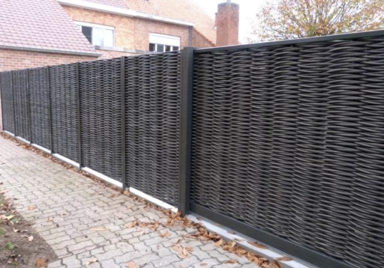 Плетеная базальтовая нить забор секционный
