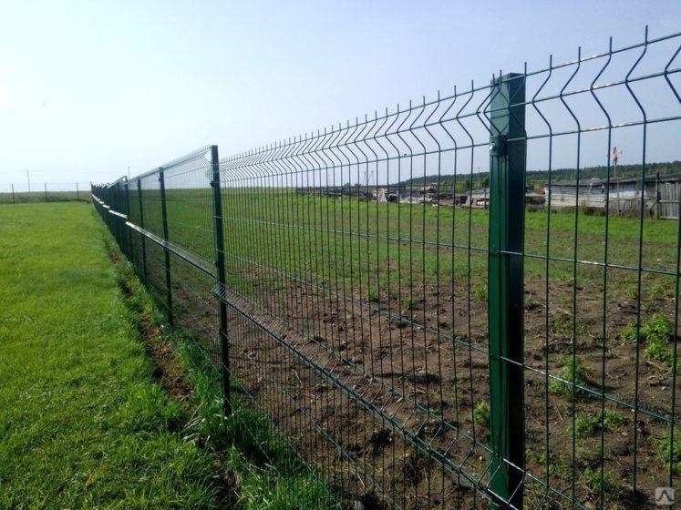 Секционный забор из сетки гиттер