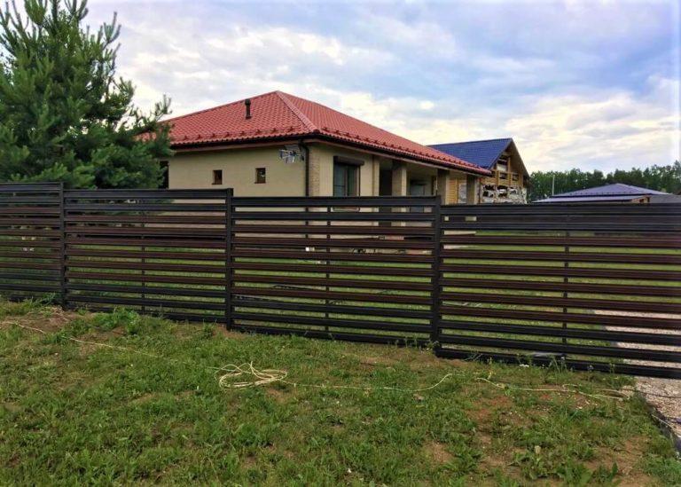 Забор ранчо из евроштакетника