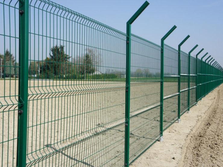 Забор секционный зеленый