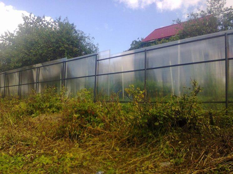 Забор серый поликарбонат