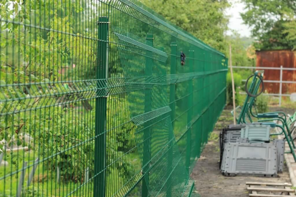 Забор сетка рабица 3д