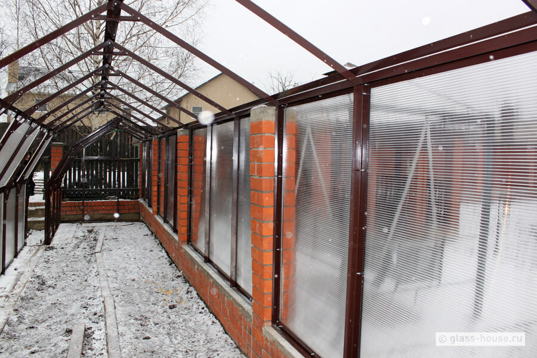 Забор теплица из поликарбоната