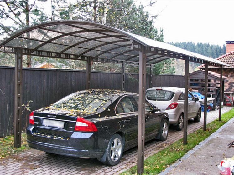 Навес для парковки автомобилей