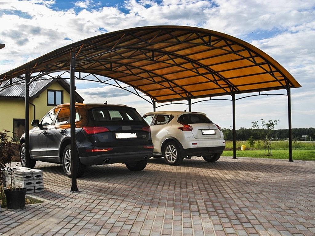 Недорогие навесы для автомобилей из поликарбоната